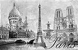 Fototapete selbstklebend Paris - schwarz weiß 155x100 cm -
