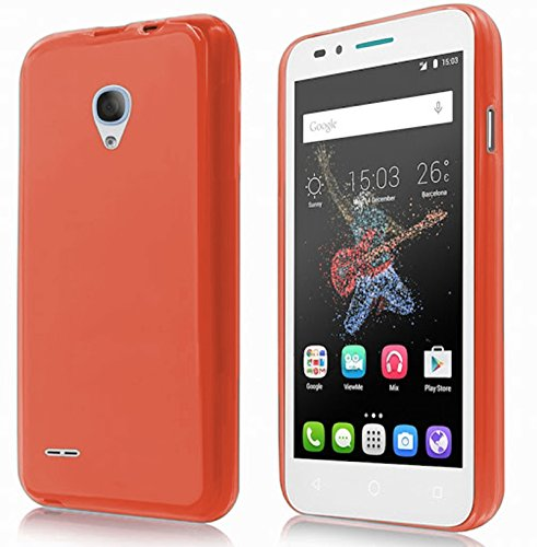 TBOC® Rot Gel TPU Hülle für Alcatel One Touch Go Play (5.0 Zoll) Ultradünn Flexibel Silikonhülle