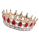#10: Segolike Vintage Baroque Ruby Crystal Crown Bridal Tiara Hair Accessory Pageant Party Fancy Dress