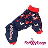 FaS-243SS-F For my Dogs Hunde Regenanzug Regenoverall Dog Anzug Hündin Hundebekleidung Hundeanzug Regen Hund, Größe:14