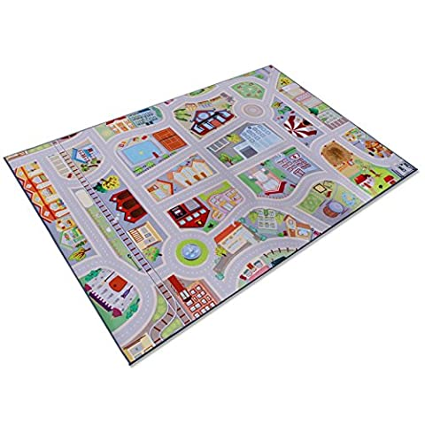 casa pura® Childrens Play Carpet, Road Mat - My Town | 2 Sizes Available (100 x 150 cm)