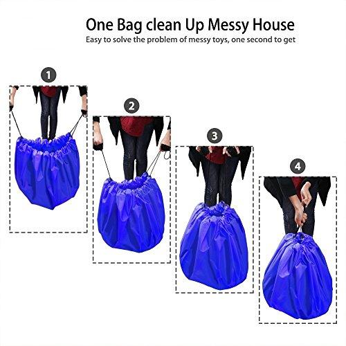 Refoss Borsa da toilette Beauty Case Borsetta da Viaggio Wash bag Organizzare borsa Impermeabile Borsa per cosmetici per il campeggio, viaggio, famiglia Blue_Toy storage bag