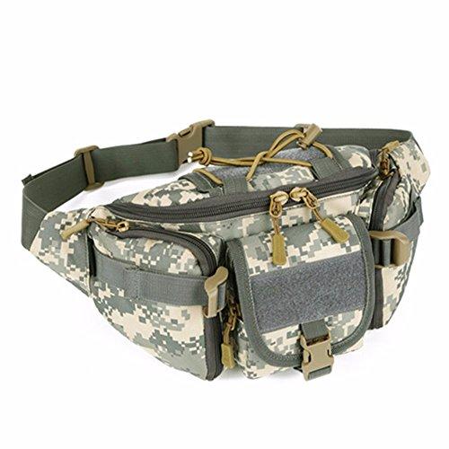 Tactical Waist Pack tragbar Fanny Pack Outdoor Army Hüfttasche Military Taille Pack für Radfahren Camping Wandern Jagd Angeln ACU Digital