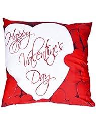 "Funda de almohada, hmlai feliz día de San Valentín carta impresión fundas de almohada poliéster sofá coche cojín cubierta decoración del hogar, 18""x18"", do"
