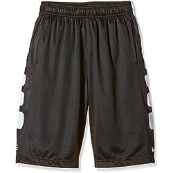 Nike Shorts - Pantalones cortos de baloncesto para niño, color negro/blanco, talla XS