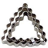 Haus 3-teilig gewellt Triangle Deck Cutter Set, silber, 4/5/6cm