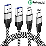 pour Cable Samsung Galaxy A3 A5 A8 A9 2017 2018 A70 A80 A20E,USB Type C 2M 2M Charge...
