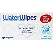 WaterWipes Chemical Free Baby Wipes, Natural & Sensitive, 12 x 60 (720 Wipes) by WaterWipes