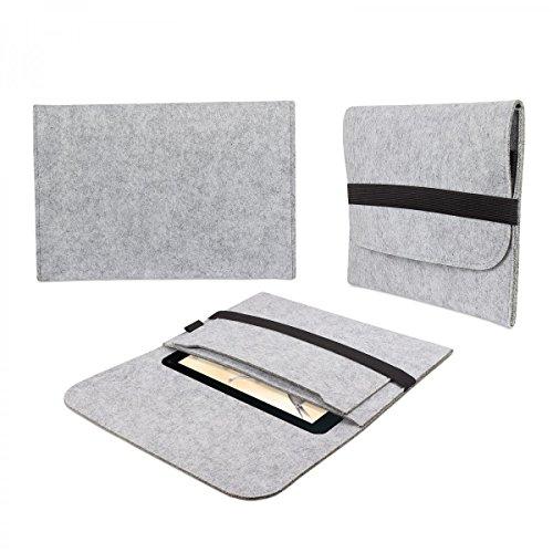 eFabrik Tasche für Blaupunkt Endeavour 1001 DVBT 10.1 Filz Hülle Tablettasche Sleeve Case Soft Cover Schutzhülle hell grau