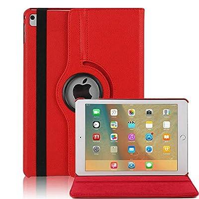 Hülle für iPad 4, elecfan® 360°Grad Drehung Hülle für iPad 2/3/4 Ledertasche lederhülle Case Smart Cover Tasche Flip Case Cover mit Auto Wake up und Standfunktion für iPad 2/3/4 (iPad 2/3/4, Blau)