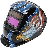 SODIAL(R) Solar soldadura de Oscurecimiento Automatico de Casco Soldadores Mascara Arc Tig Mig de Molienda