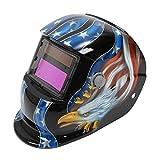 TOOGOO(R) Clear-vision Welding Helmet Solar Powered Automatic/ Solar- Auto Verdunkelung Schweisshelme Schweissmaske Arc Tig Mig Schleifen (Schwarz)