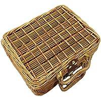 L 332/pageann almacenaje Cuadrado de Madera Tejida a Mano Cesta de Picnic D/îner Cesta Madera Cesta de la Compra Frutas de Madera Cesta de Frutas/ /Caja de almacenaje para la Cocina