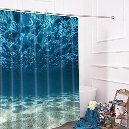 Lonior Wasserdichter Duschvorhang Anti-Schimmel Badvorhang Anti-Bakteriell Badewannenvorhang in der Größe 180 x 180 cm mit 12 Duschvorhangringe für Badezimmer