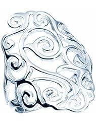 TF breiter, verzierter Barock-Ring, Sterling-Silber 925 Größe 62 (19.7) - Damen