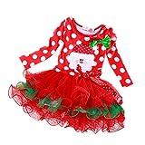 Gepunkteten Kleid Weihnachten, Mädchen