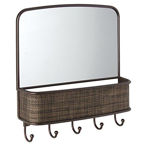 iDesign 95930EU Twillo Wandmontierter Spiegel und Postablage, Küche, Flur, Eingangsbereich, bronze (Eingangsbereich Spiegel Regal)