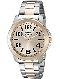 invicta watches shop amazon uk invicta men s quartz watch rose gold dial analogue display and multicolour stainless steel bracelet 21442