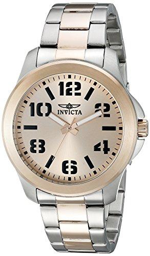 Invicta 21442 Specialty Herren Uhr Edelstahl Quarz roségoldenen Zifferblat (Rose Invicta Uhr)