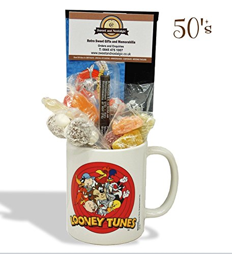 looney-tunes-mug-with-a-merrie-melody-selection-of-1950s-old-fashioned-sweets