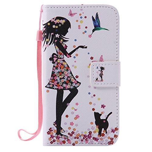 YYhin schutzhülle für Nokia Lumia 640(5.0') hülle,Schutzhülle/Faltabdeckung, Flip-Ledergeldbörse, Kartenhalter #06/Schönheit und Katze
