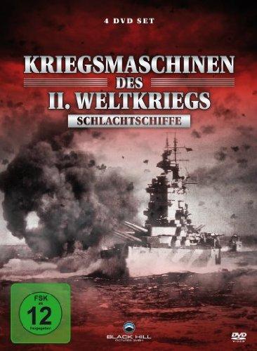 Kriegsmaschinen des Zweiten Weltkriegs - Schlachtschiffe [4 DVDs]
