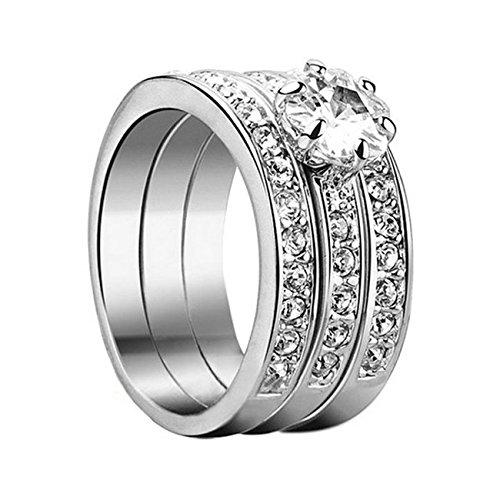Yoursfs moda dell'oro bianco 18K amore anelli