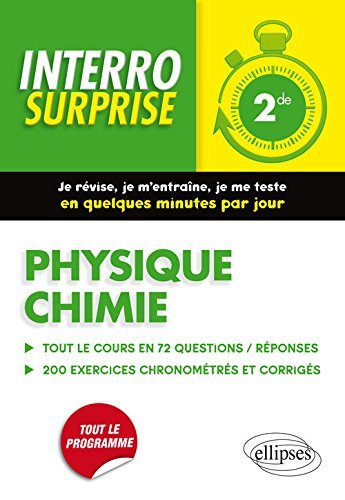 Physique Chimie Seconde by Marie d' Espeuilles (2016-07-12)