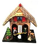 TFA Dostmann Wetterhäuschen Wetterhaus aus Echtholz, Beige