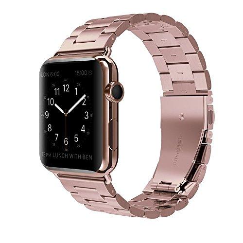 Apple Watch Armband 38mm MLIYA Edelstahl Replacement Wrist Strap Replacement Ersatzband Uhrenarmband f¨¹r Apple Watch - 38mm Rose Gold