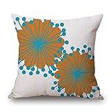 Jhonangel Cuscino Decorativo Federa Floreale Federa del Cuscino del Fodero del Cuscino di Stile Semplice 18 x 18 Pollici Modello 5