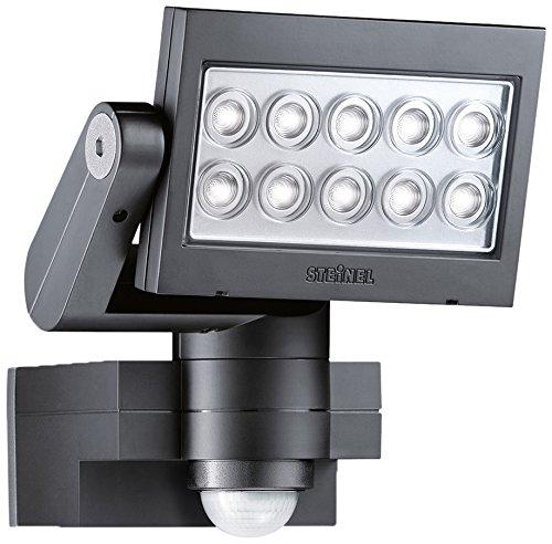 Steinel Strahler mit Bewegungsmelder inklusive eingebauten 30 W LED, IP44, 20,5 x 20 x 22 cm, schwarz XLED10SCHWARZ