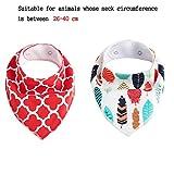 RockPet Hunde Bandana Halsband für Kleine Mittelgroße Hunde, Verstellbarer Hunde Schal Halstuch