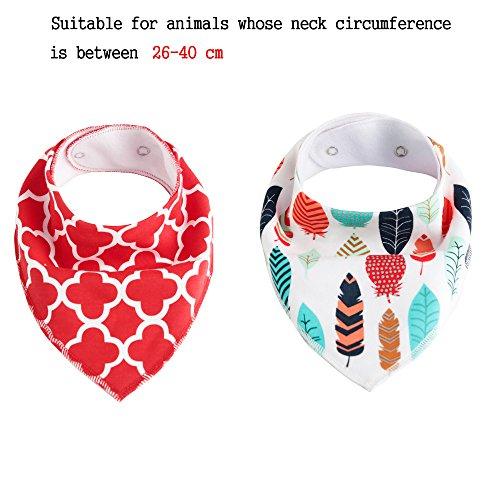 RockPet Collar Bandana para Perros Pequeños y Medianos, Pañuelo para el Cuello Ajustable para Perro