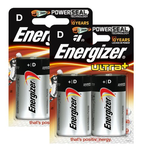 Preisvergleich Produktbild Energizer Original Batterie Ultra Plus Mono D (1, 5 Volt,  2x 2-er Pack)