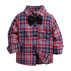 Weentop Boy s Plaid Camisa...