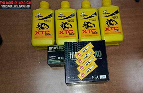 KIT TAGLIANDO VT 1100 C2 SHADOW 95/98 FILTRO OLIO ARIA CANDELE 4L BARDAHL 10W40