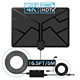GEEKERA TV Aerial, 60+ Miles Long Range Indoor TV Antenna for Digital Freeview