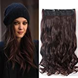 Neverland Beauty 22 Half Full Head Clip extensions de cheveux Hair Extensions , Wavy-One Piece with 5 clips,brun moyen