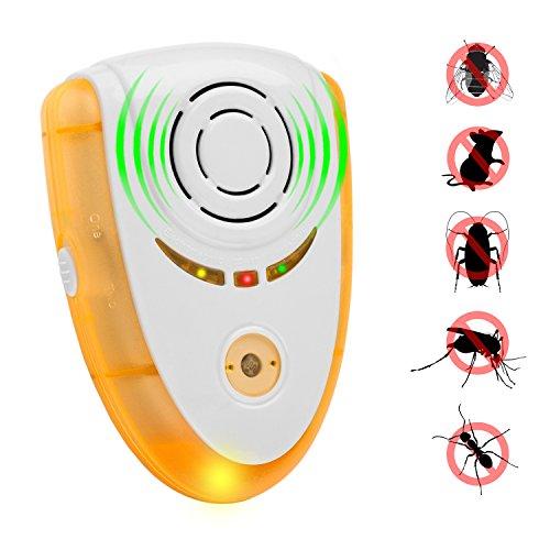 Schädlingsbekämpfung Ultraschall-Repeller, Elektronischer Plug-in Pest Repeller für Insekten, Best Pest Repellent für Nagetiere, Mäuse, Kakerlaken, Fliegen, Roaches, Ameisen, Spinnen, Flöhe