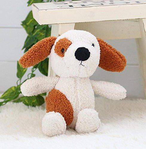 (EoamIk Niedliche Stofftiere Plüsch Soft Hund Spielzeug Adorable 30cm gefüllt animierte Hund Puppe Kinder Geschenk (braun und weiß))