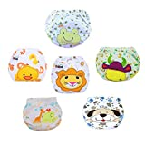 LSERVER Cute Toddler Baby Training Panties Underwear for Girls and Boys Set of 6