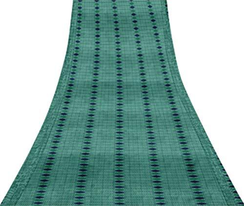 Svasti pannahazar Jamdani Vintage Silk Sari hellblau Schneiderei Aufgearbeiteter Bastelstoff Saree 1 Yard -