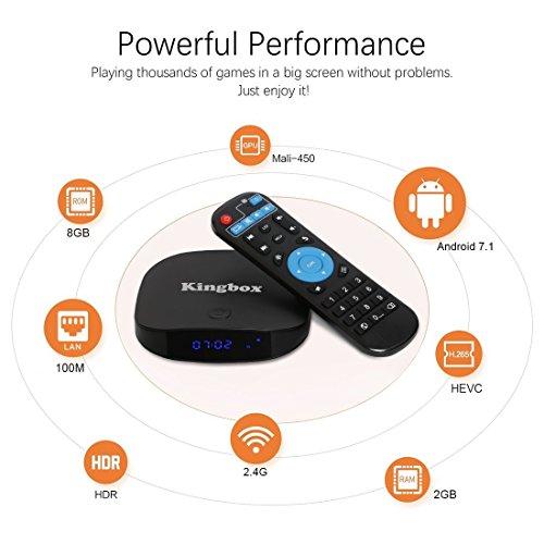 Kingbox 2018 K1 Plus Android 7 1 TV BOX Support BT4 0/4K/Full  HD/H 265/2GB+8GB Smart TV Box with Mini Keyboard