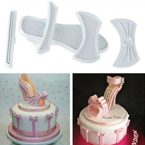 9x plastica Lady cutter scarpe con tacco sandali pasticceria muffa taglia unica A