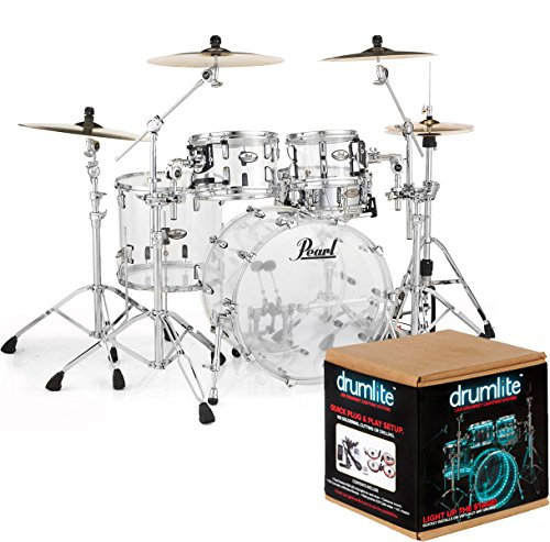 pearl-crb524p-c730-crystal-beat-fusion-shell-set-acrylic-drum-lite-dlk1d-lighting-kit