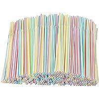 Lot de 1000 pailles à rayures pliables jetables, couleurs assorties, pour jus, boissons, lait, thé, pour enfants…