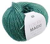 Rico Luxury Magic Mohair F. 06 - petrol/türkis, Wolle mit Lurexfaden / Glitzer zum Stricken und Häkeln