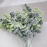 bismarckbeer 1Bouquet Künstliche Kunststoff, Eukalyptus Pflanze Blumen für Zuhause Hochzeit Garten Decor