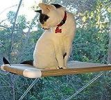 Ultimate Katze Sitzstange die Keine Aufhängen Kabel, stärker für erhöhte Zuverlässigkeit (für 80Pfund)–Fenster Muss Werden 61cm Breit